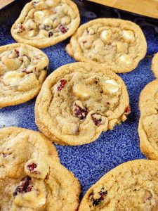 Chewy White Chocolate Cranberry Cookies